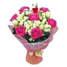 """Букет """"Розовые розы 2 """""""
