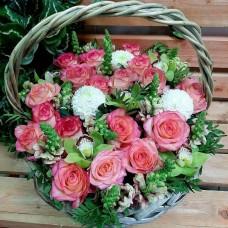 """Корзина цветов """"Фламинго"""""""