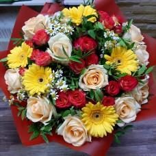"""Букет """"Розы и ромашки"""""""