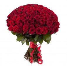 Букет 101 бордовая роза